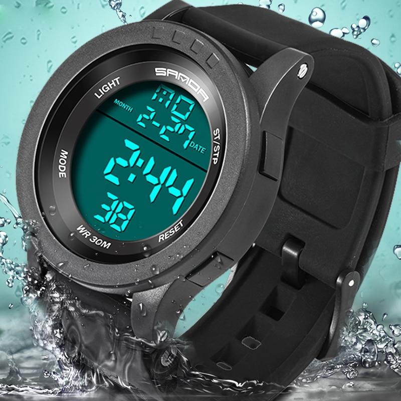 2018 Neue Marke Sanda Uhr Männer Military Sportuhren Fashion Silikon Wasserdichte Led Digital Uhr Für Männer Uhr Reloj Hombre Digitale Uhren