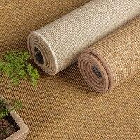 Sisal European style carpet living room coffee table bedroom door mats hand woven jute non slip carpet