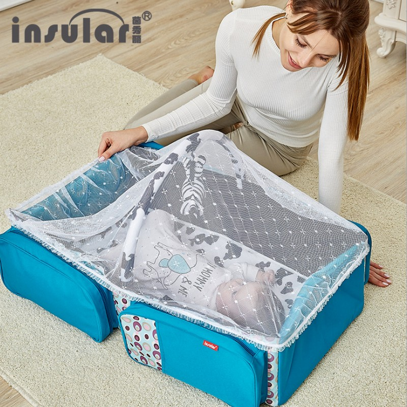 Baby Mobile Bed portable cribs Infant Bed Tent Sleeping Basket With Mosquito Net Folding Newborn Carrycot Baby Cradle Nest Bed quality baby sleeping basket portable newborn cradle bed with awning mosquito net portable bassinet for newborn car seat cradle