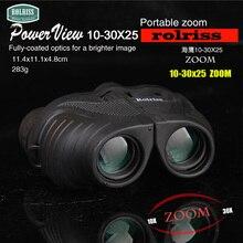 Wholesale prices Rolriss Small Zoom 10-30X25 HD High Magnification Light King Falcon Zoom Telescope Verrekijker Binoculos Powerful Binoculars