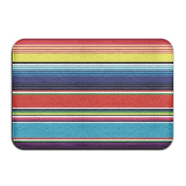 Beau DIYABCD Colorful Mexican Blanket Stripes Doormats Anti Slip House Garden  Gate Carpet Door Mat Floor