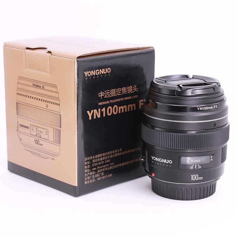 Yongnuo YN100mm F2 Moyen Téléobjectif Premier Objectif AF MF Grande Ouverture 100mm lente pour Canon EOS Rebel Caméra 1300D t6 760D 750D
