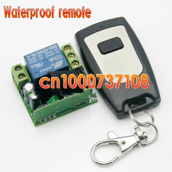 Free shipping 12V 1ch Receiver Wireless Remote Control Switch System RF Garage Door Remote Control System Mini volume 200M