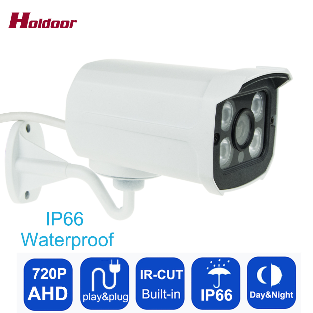 AHD 720P 1MP CMOS Array Leds CCTV Camera With IR-Cut Filter Outdoor Night Vision IP66 Waterproof Security Camera, free shipping hot ahd camera 960p 1 3mp sony imx238 chip high power array leds waterproof clear night vision ir filter 1 3 serveillance camera