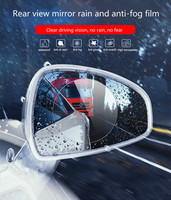 High Quality 2PCS Car Rearview Mirror Waterproof And Anti Fog Protectiver Window Clear For Car Mirror Protective Film