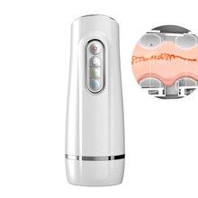Male Masturbator 10 Frequency Vibration Mode 8 Folder Suction With Voice Smart Vibration Masturbation Sex Toys for Men