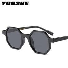 b6583914e6e25c YOOSKE Mode lunettes de Soleil Femmes Marque Designer Petit Cadre Polygone  lunettes de Soleil Multicolore Cadre Vintage Octagon .