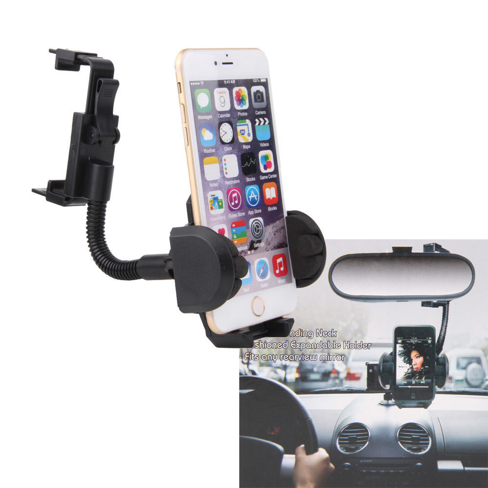 Car rearview mirror mount holder car reviews - Universal Car Rearview Mirror Mount Stand Phone Holder For Iphone 6s 6 4 7 5 5 Plus For