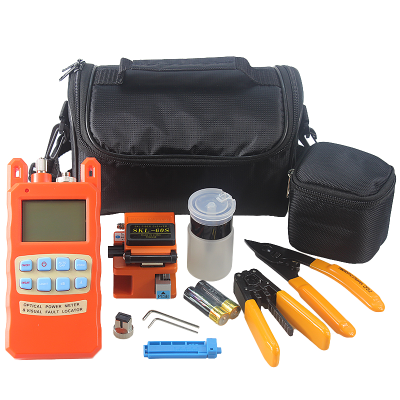 21 type Fiber Optic Tool bag SKL-60S Fiber Cleaver 2iN1 Fiber Power meter with 1-5km Visual Fault Locator  21 type Fiber Optic Tool bag SKL-60S Fiber Cleaver 2iN1 Fiber Power meter with 1-5km Visual Fault Locator