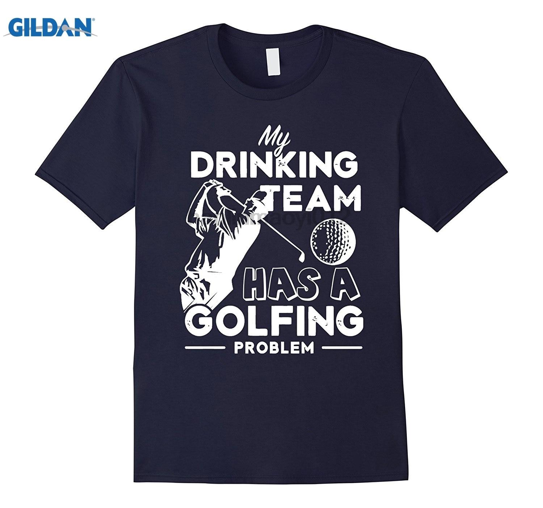 GILDAN MY DRINKING TEAM HAS A GOLFING PROBLEM T SHIRT glasses Womens T-shirt