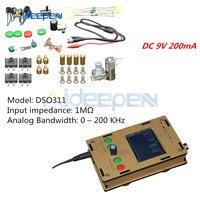 """DSO311 Montado Digital Oscilloscope STM32 12 Bit com Caixa Caso Shell Mini 2.4 """"TFT Display LCD DC 9V 200mA Substituir DSO138 Peças e acessórios p/ instrumentos     -"""