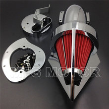 Cone Spike Air Cleaner for Yamaha V-Star 1100 Dragstar XVS1100 1999-2012 CHROME Motorcycle Accessories new chrome drive shaft cover for yamaha vstar v star 650 1998 2012 1100 1999 2009 customs classic