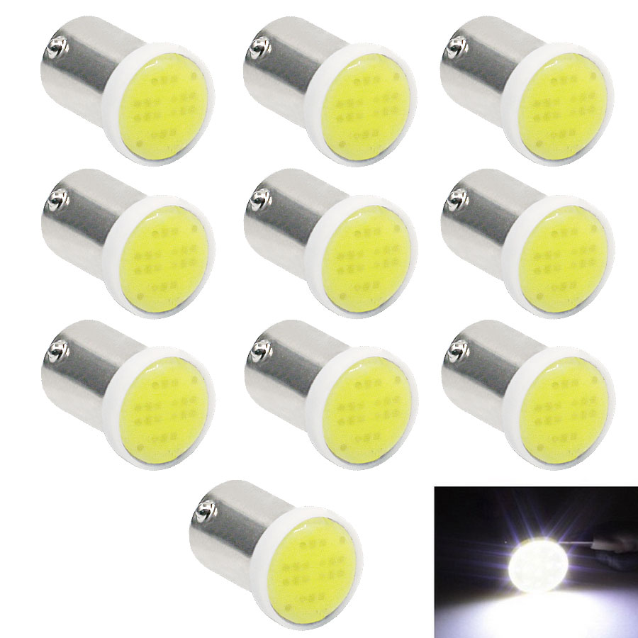 2016 top quality 10pcs t4w ba9s car dc12v led cob 1w white. Black Bedroom Furniture Sets. Home Design Ideas