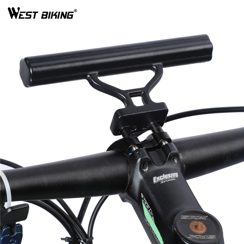 Bicycle Handlebar Extension Bicycle Extender Mount Multifunction Bike Handlebar Extender Aluminum Alloy Bracket Extension Flashlight Holder Bicycle Accessories