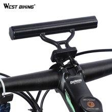 WEST BIKING Bike Handlebar Extender Flashlight Holder Handle Bar Bicycle Accessories Extender Mount Bracket Cycling Extender