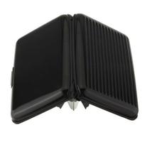 Wholesale 5pcs ( Business Id Credit Card Holder Wallet Aluminum Metal Case Box-Black 2