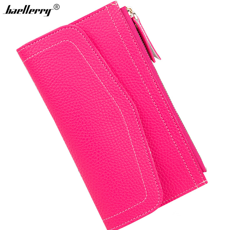 2017 New Brand Baellerry Korean Style Women Long Clutch Multifunctional Female Pu Cheap Wallet Mobile Phone Bag ID Card Holder 2015 new brand female elegent style 100