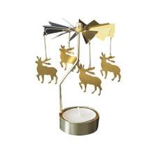 Креативный Рождественский олень вращающийся Вращающийся карусель чайный светильник подсвечник центральный подсвечник вечерние Декор Прямая поставка 315W