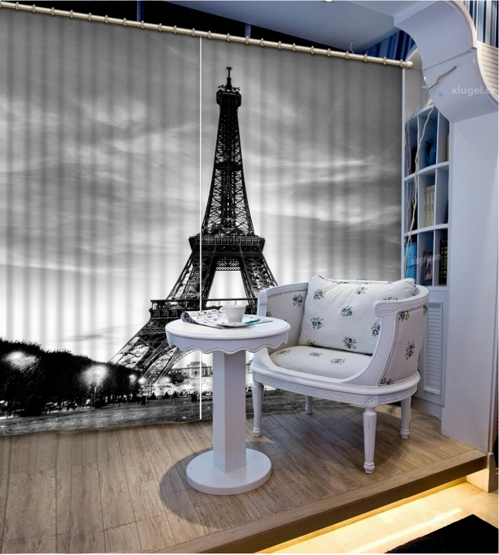 tower curtains indow Blackout Luxury 3D Curtains set For Bed room Living room Office Hotel  black curtains