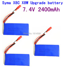 3pcs SYMA X8 X8A X8C X8C 1 X8W X8G 7 4V 2400 mAh Li po font