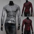 Chegada de V manga longa dos homens casual camisas 2 cores M-XXL H7728