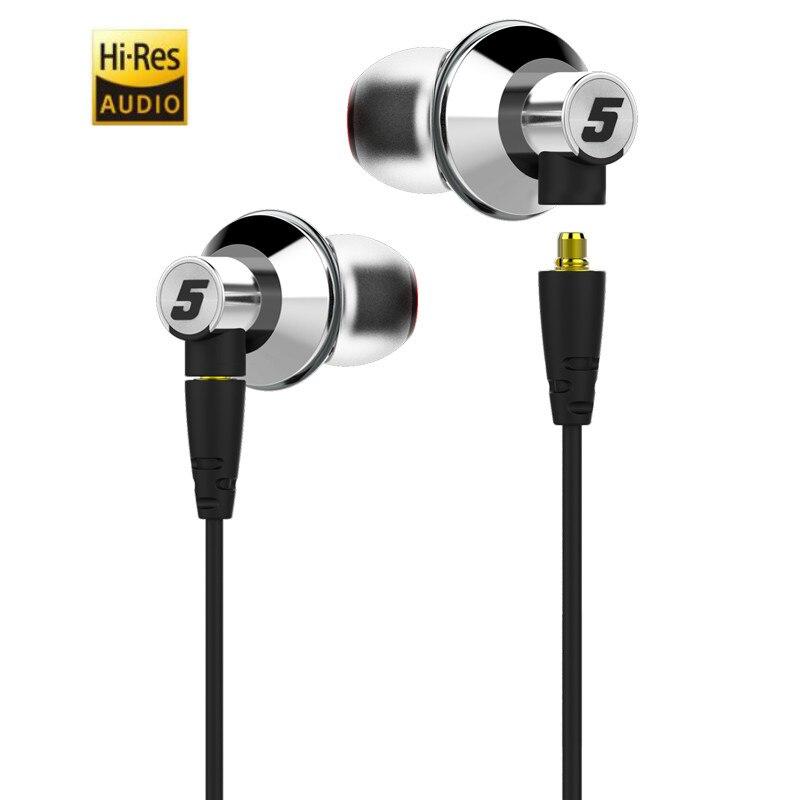 DUNU TITAN 5 HiFi Stereo Auricolare Hi-Res Audio Dinamico Nano Membrana In Titanio In-Ear Auricolari DJ Metallo Auricolare w /sostituire il Cavo