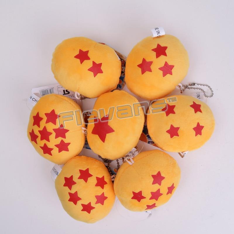 Dragon Ball Z bolas de 1 - 7 estrela de pelúcia brinquedos de pelúcia com  chave pingente cadeia Stuffed suave Dolls 7 pçs lote 8.5 cm 11eee81afe