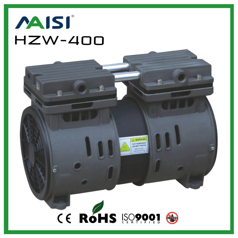 (HZW-400) 220V /50HZ AC 115L/MIN 300 W oil free piston vacuum pump manka care 220v ac 23l min 150 w mini piston vacuum pump silent pumps oil less oil free compressing pump