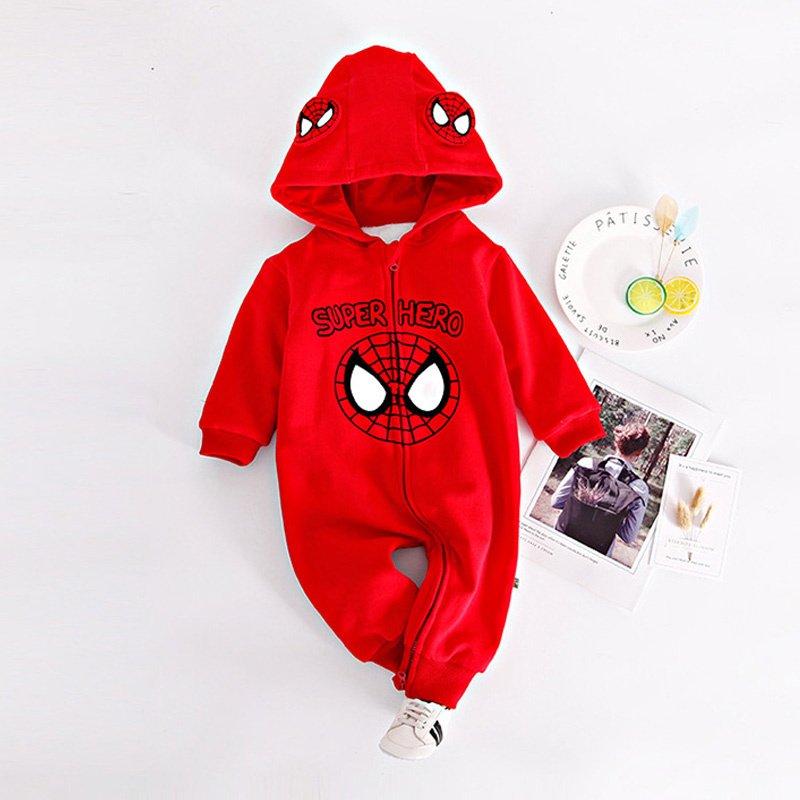 Long Sleeve Winter Flannel Thickened Baby Rompers New Year Clothing for 0-2Y Infant Plus Velvet Warm Spiderman Batman Jumpsuits 300cc 330cc thickened silicone sleeve adapter