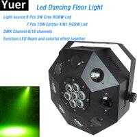 Led Танцы пол свет Известный светодиодные лампы 120 Вт RGBW освещенные Танцы пол 6/16 канала DMX DJ DMX дискотека лазерного led Танцы пол