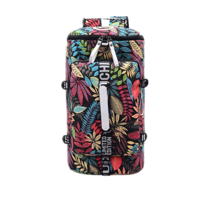 2019 Outdoor Large Capacity Waterproof Canvas Gym Bags Sport Men Women Big Sport Bag Fitness Bag Handbag Yoga Mat