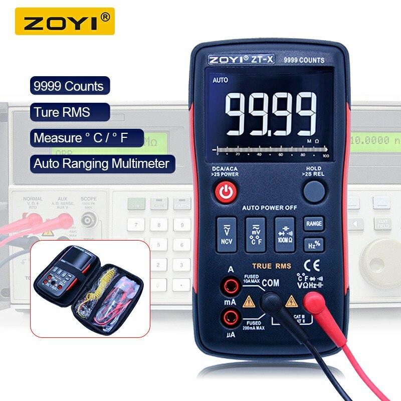 ZT-X Vrai RMS Multimètre Numérique Gamme Auto AC/DC Ampèremètre Voltmètre Résistance Capacité Diode PCI avec un triple affichage