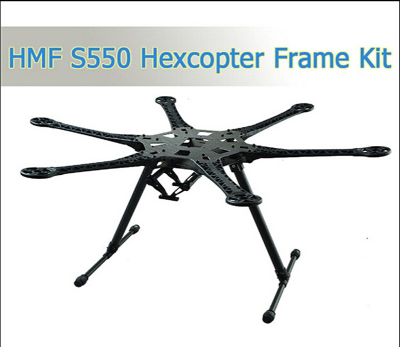 1 Set HMF S550 S550Pro Hexcopter Frame 6-Axis For FPV MiniS800 FPV KIT With Carbon Fiber Landing Gear Skid PCB Central Plate tarot tl68b14 6 axis aircraft hexcopter fy680 fy650 inverted battery rack ship with tracking number
