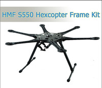 1 Set HMF S550 S550Pro Hexcopter Frame 6 Axis For FPV MiniS800 FPV KIT With Carbon Fiber Landing Gear Skid PCB Central Plate
