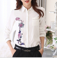 Women Blouses Ropa Mujer Tops 2015 Blouse Chemise Femme Mujer Camisas Plus Size Blusa Vetement Femme Vintage Roses Fancy Blusas