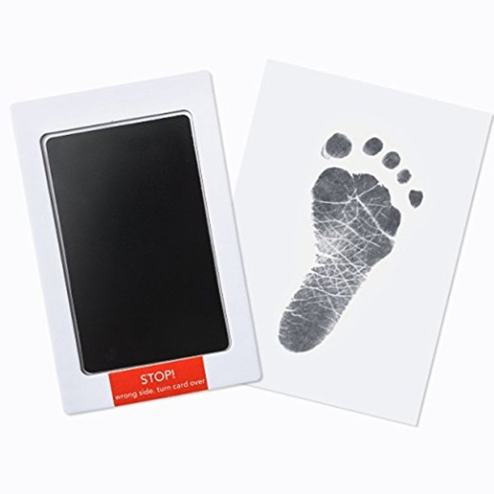 Baby Handprint Footprint Imprint Hand Inkpad Watermark Infant Souvenirs Non-Toxic Casting Clay Toys Gifts