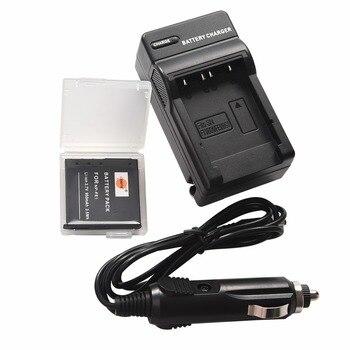 DSTE NP-FE1 funda protectora de batería + cargador de viaje y coche para cámara Sony cyber-shot DSC-T7 DSC-T7/B DSC-T7/S