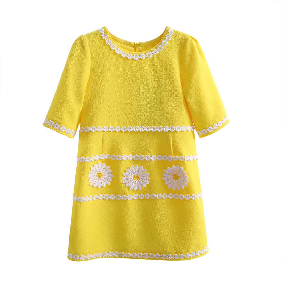 Pettigirl 2019 Newest Summer Dress Fpr Girls Yellow Easter Flower Casual Baby  Girl Dress Kid Clothes 3406f3681f67