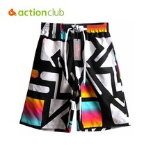 Actionclub Brand Mens Beach Board Shorts Male Sexy Surf Swimming Trunks With Letter Summer Thin Running Boxer Swimwear MC1515