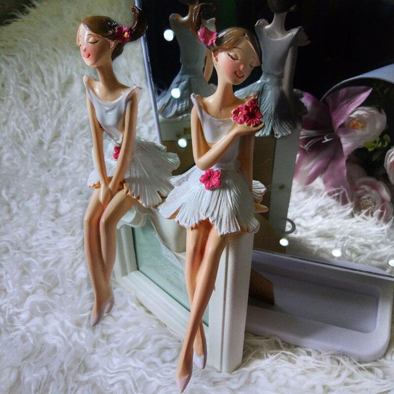 2 pcs / set Indah Malaikat Resin Kerajinan Peri Figurines Hadiah - Dekorasi rumah - Foto 4