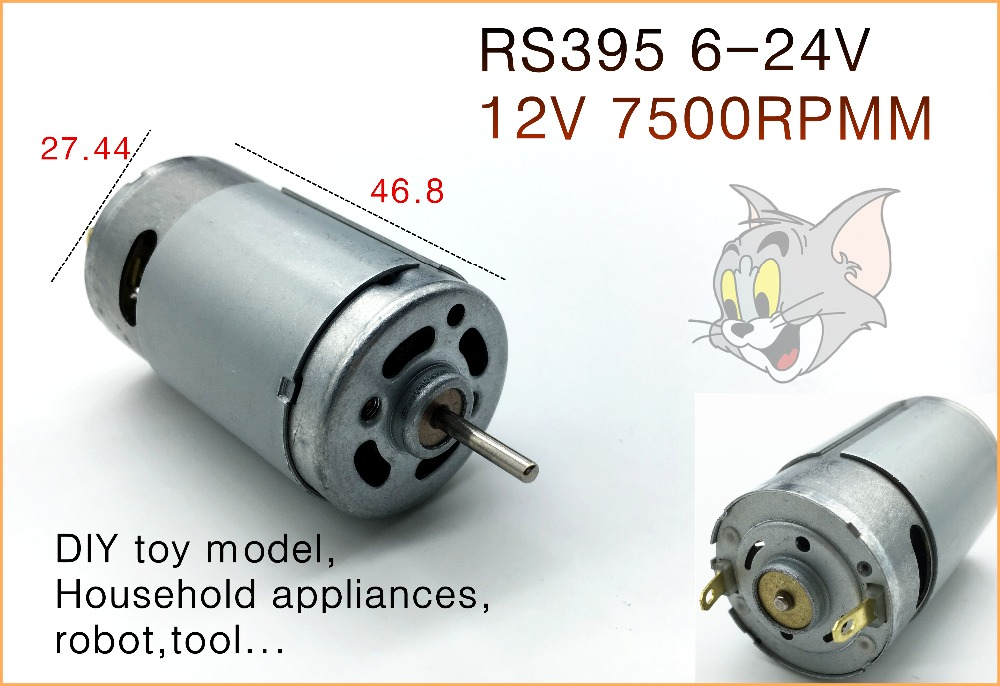 Rs395 high speed dc motor 6 24v toy model electro motor for High speed dc motors
