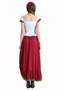 Image 3 - Octoberfest בוואריה שמלה כפרית חדרניות איכרים חצאית שמלת גרמנית בחורה תלבושות המפלגה נקבה אוקטוברפסט ארוך שמלה