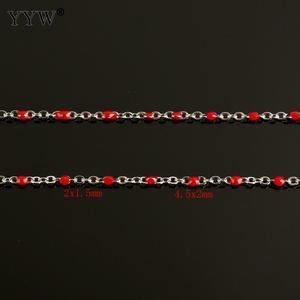 Image 4 - 10 m/Spool מתכת שרשרת עבור תכשיטי ביצוע נירוסטה שרשרת רול DIY שרשרת שרשרת צמידי תליון גברים נשים תכשיטים
