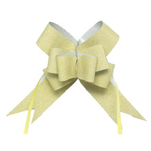wedding decoration glitter pull butterfly bows Wedding/Birthday Party Decoration christmas glitter pull ribbon S/M(China)