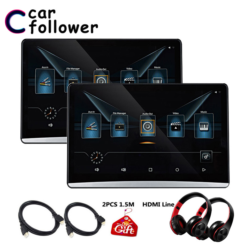 12.5 Inch Android 6.0 Headrest Car Monitor 1920*1080 FHD 1080P MP5 Player Touch Screen With WIFI/Bluetooth/USB/SD/HDMI/FM(China)