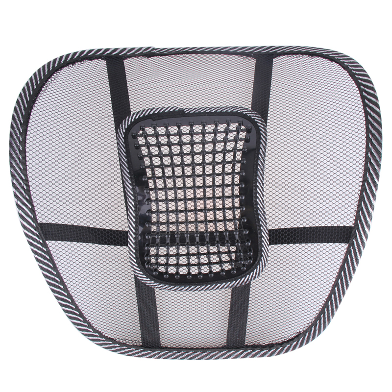 Universal Car Seat Chair Back Massage Lumbar Support Waist Kudde Mesh - Bil interiör tillbehör - Foto 4