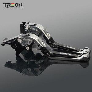 Image 4 - CNC Aluminium Motorrad Folding Erweiterbar Bremse Kupplung Hebel Griff Für Kawasaki Z650 Z 650 2017 2018 2019 Zubehör