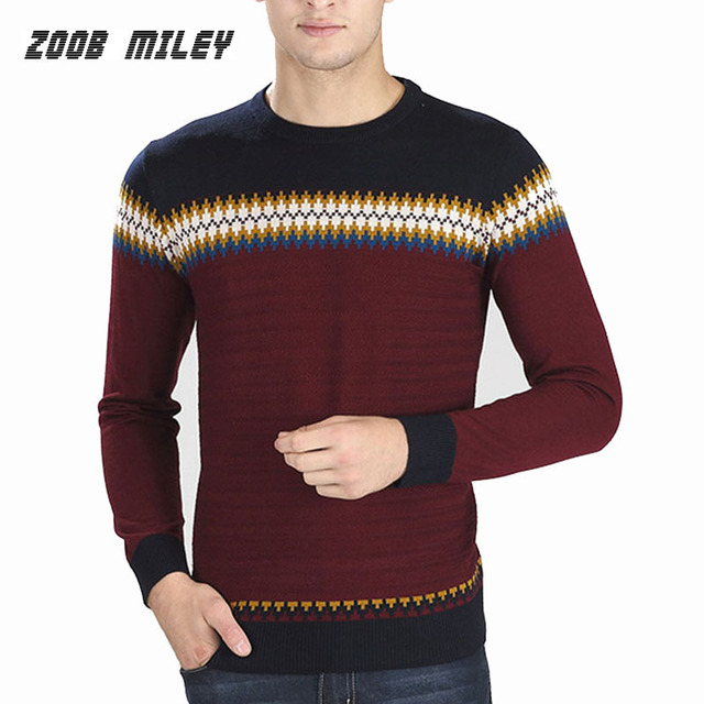 684bcdadb83c Winter Men s Pullovers Casual Sweaters Fashion Brand Long Sleeve O-Neck  Warm Knit Sweater Cotton