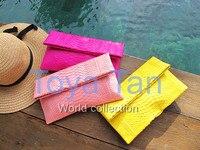 Luxury ladies 100% real genuine python skin clutch python leather clutch evening bag handbag