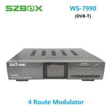 Satlink DVB-T WS-7990 4 Rota MPEG4 HD 1080 p DVB-T modulador Modulador Digital VS WS-6980 satlink ws-6990